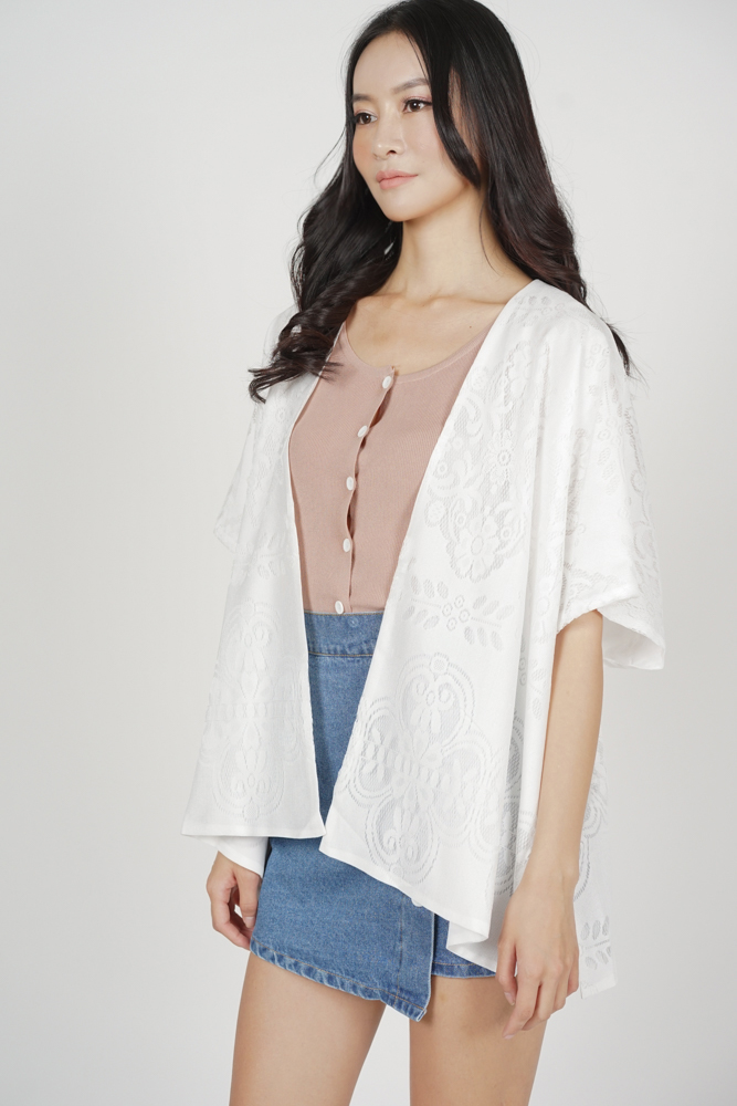 Marcas Lace Kimono in White - Arriving Soon