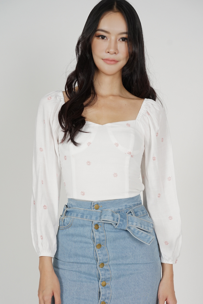Daphney Sleeved Top in Pink Floral - Arriving Soon