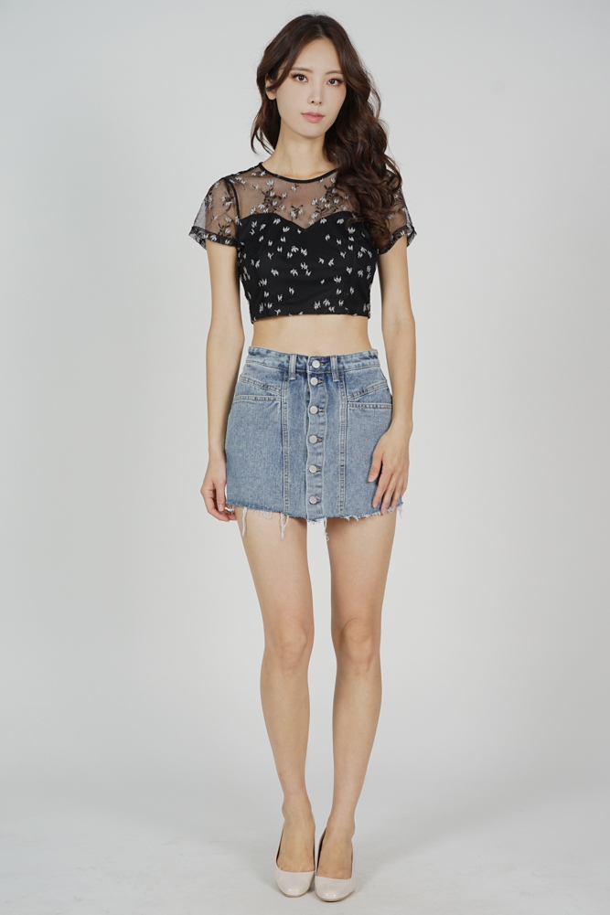 Gali Lace Top in Black - Arriving Soon