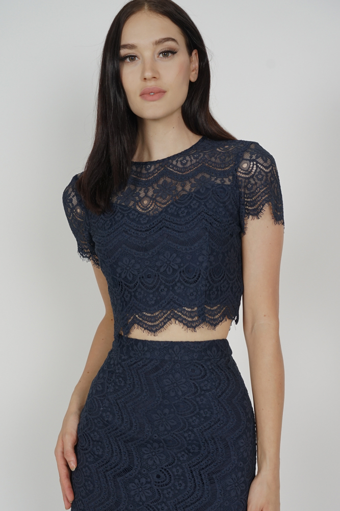 Dorcia Lace Top in Midnight