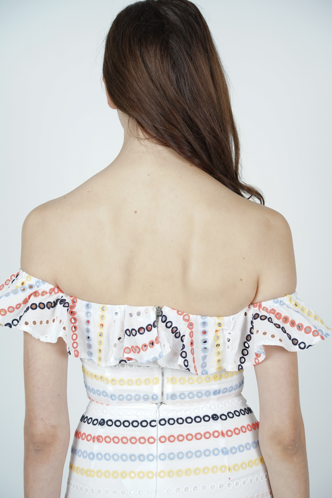 Maia Ruffled Mini Top in Rainbow - Arriving Soon
