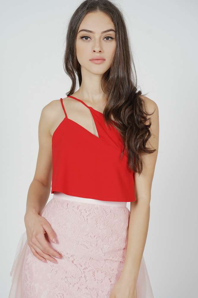 Caylen Toga Top in Red