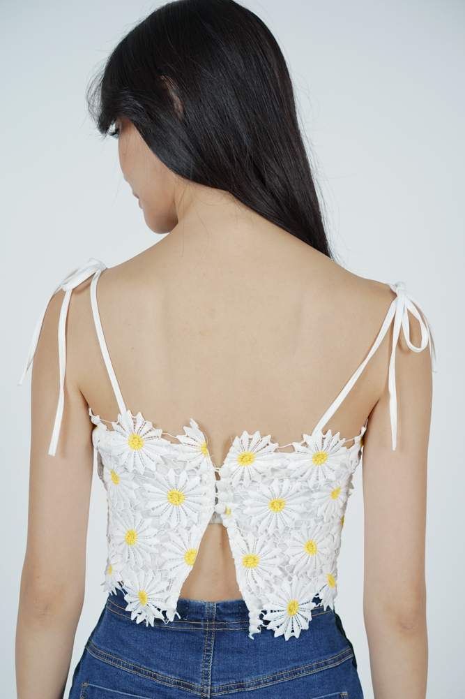 Daisy Crochet Top in White (Online Exclusive)