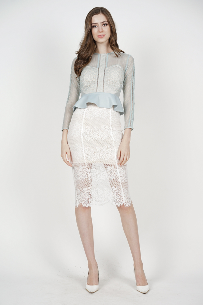 Hilary Sheer Top in Ash Blue - Arriving Soon