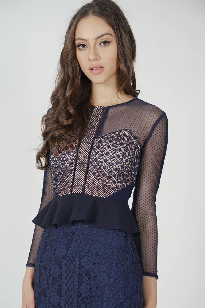 Hilary Sheer Top in Midnight - Arriving Soon