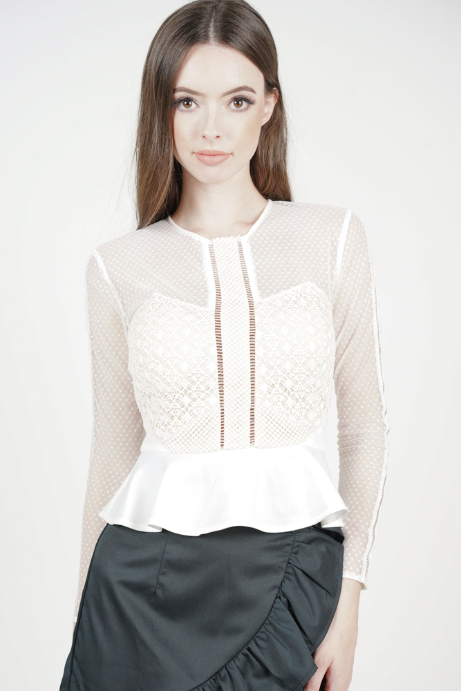 Hilary Sheer Top in White