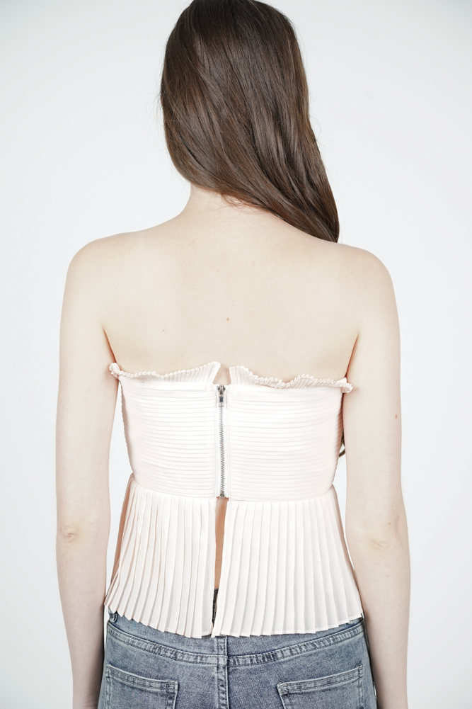 Kasha Pleated Bustier in Pink - Arriving Soon