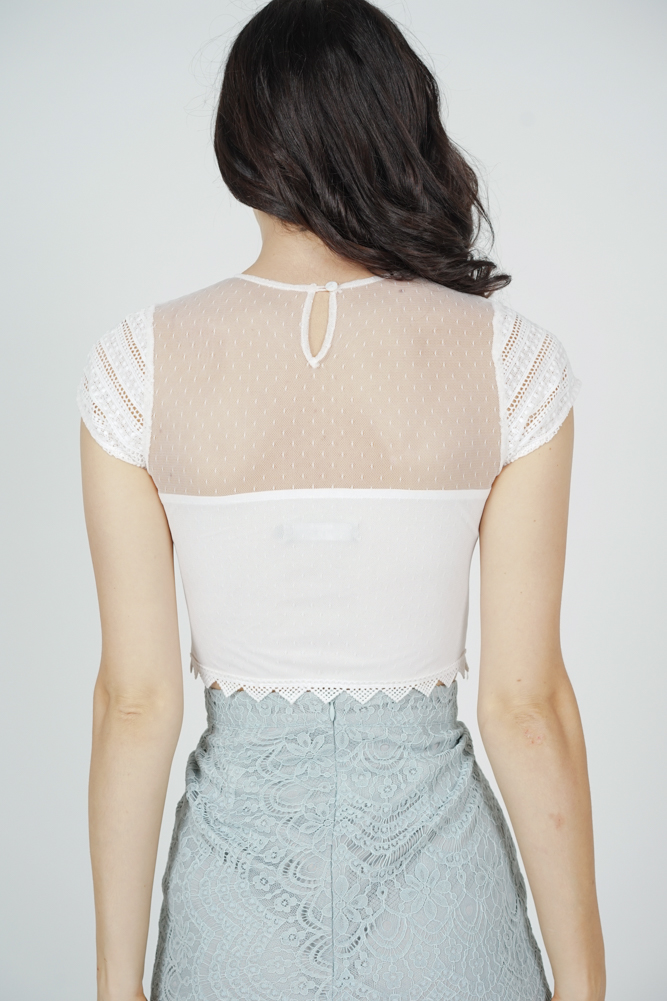 Titania Lace Top in White - Arriving Soon