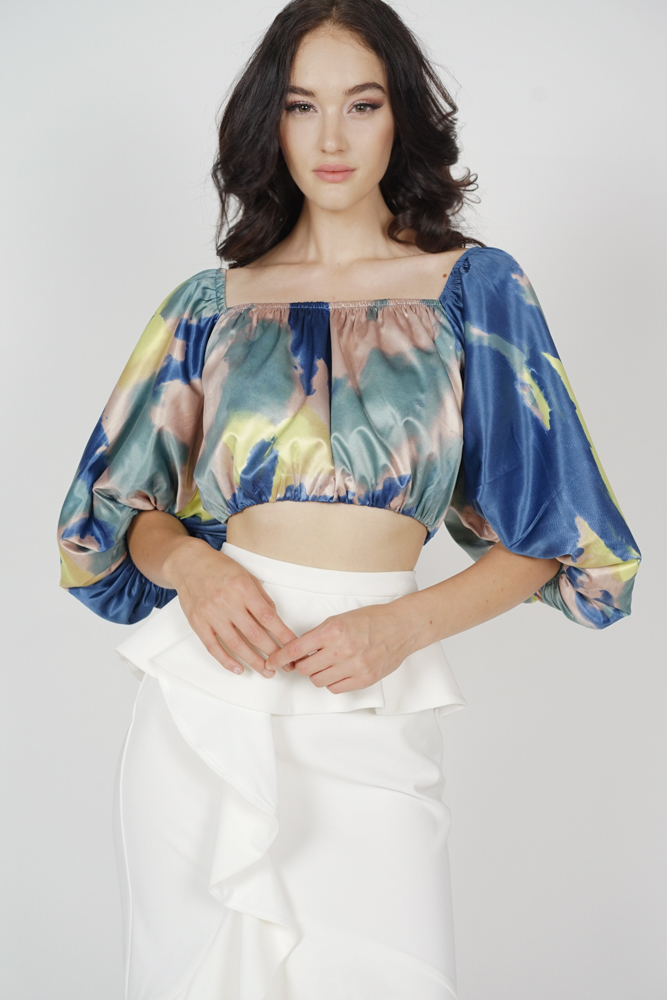 Jezda Abstract Puffy Top in Multi - Arriving Soon