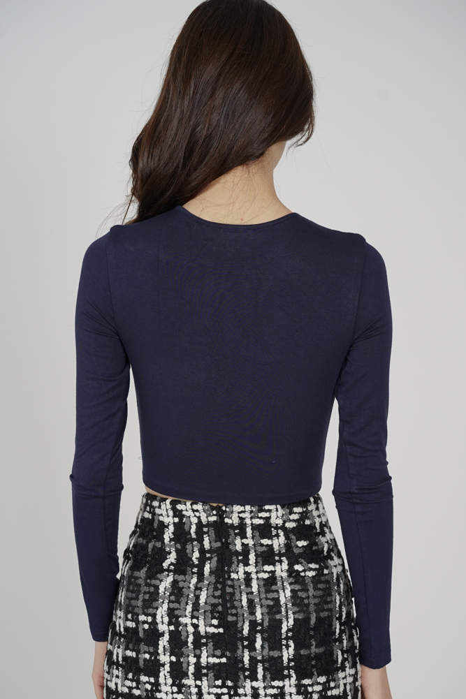 Ozzie Criss-Cross Top in Midnight