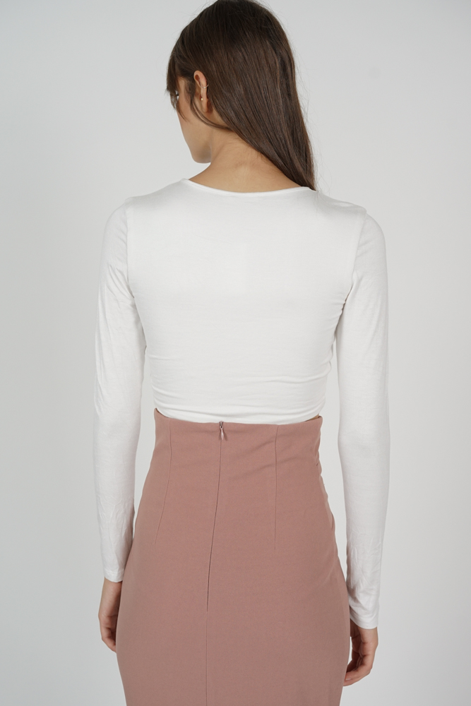Ozzie Criss-Cross Top in White