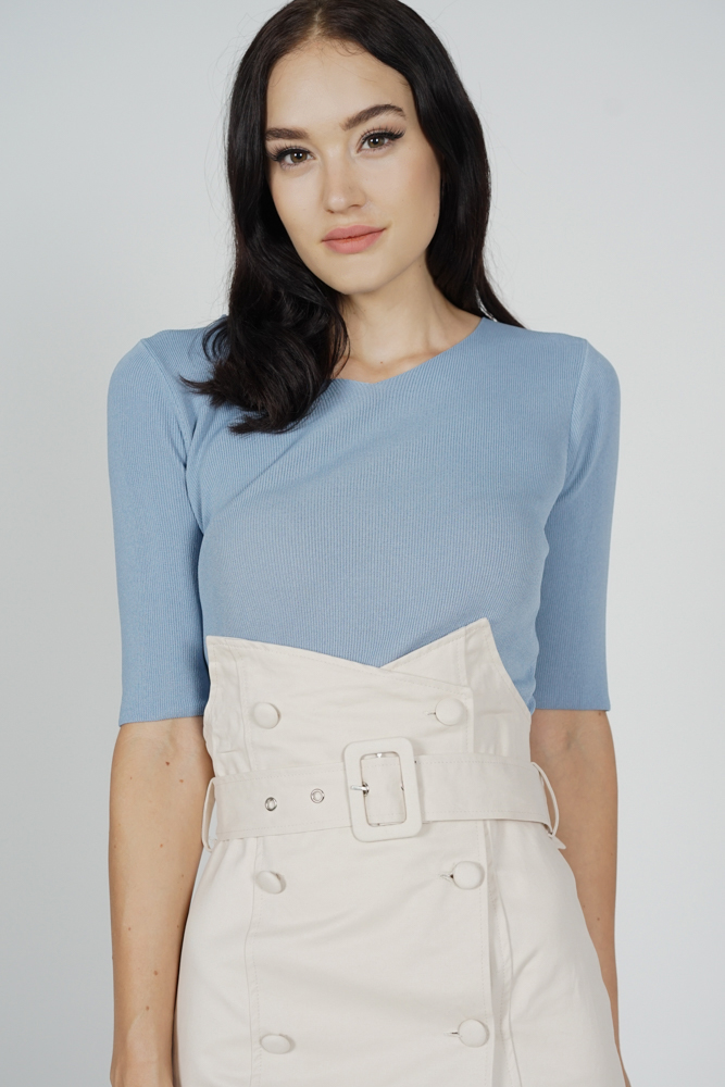 Sheani Top in Ash Blue - Online Exclusive