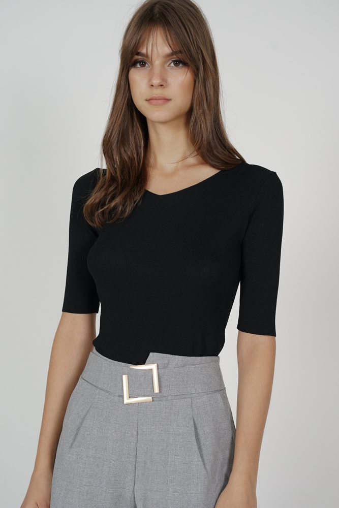 Sheani Top in Black - Online Exclusive