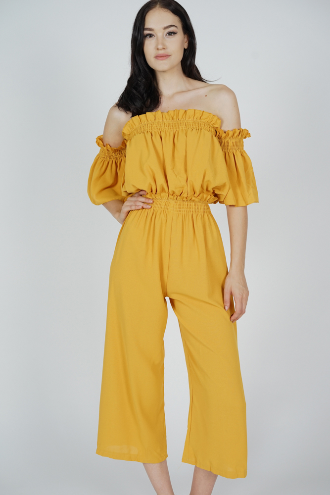 Tabi Two-Piece Set in Mustard - Online Exclusive