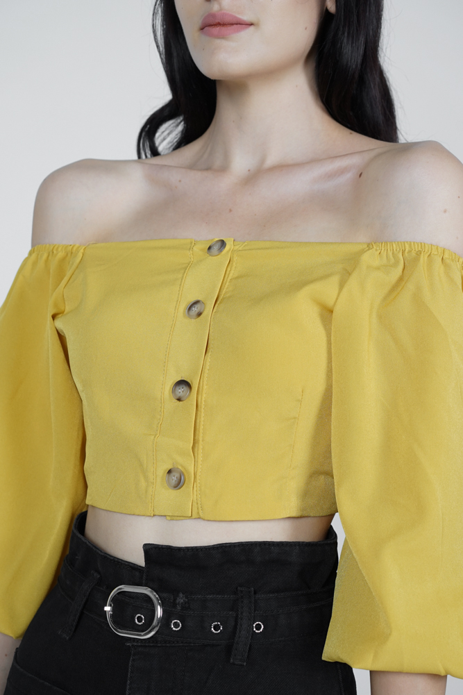 Yora Puffy Top in Mustard - Online Exclusive