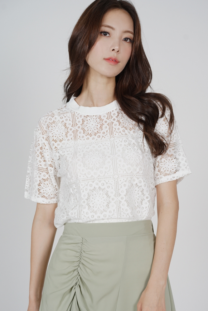 Tisha Lace Top in White - Online Exclusive