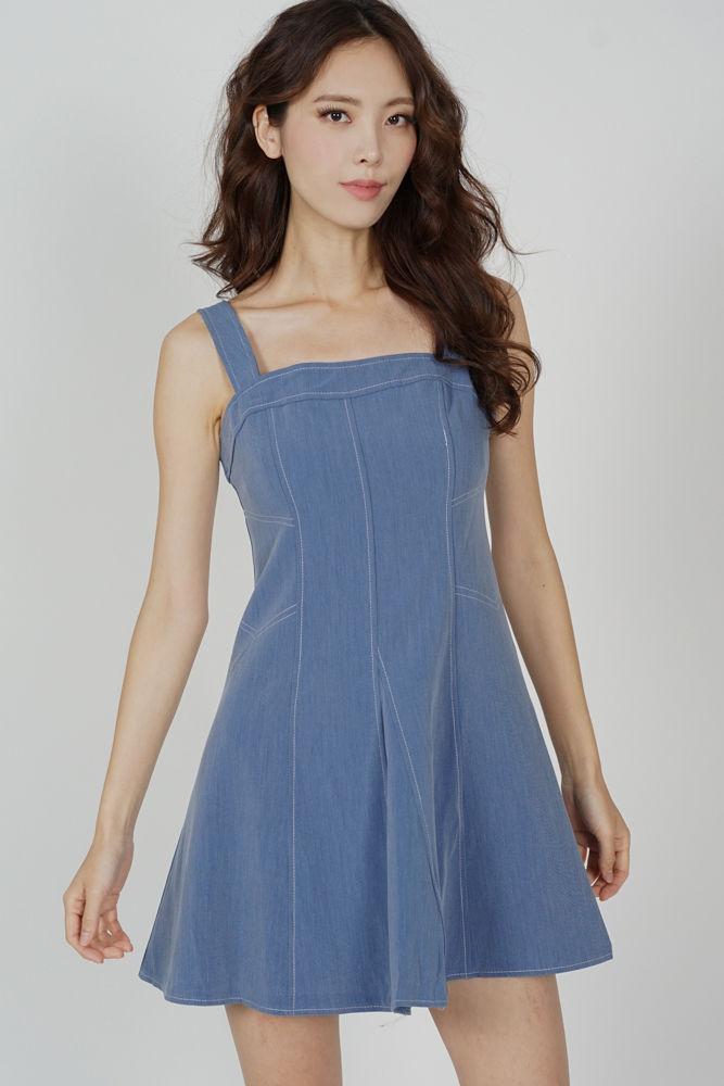 Wedley Stitch Dress in Blue - Online Exclusive