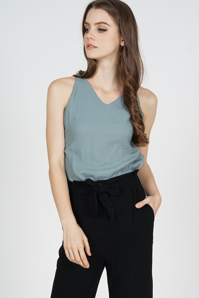 Rawna Cami Top in Pine Green - Online Exclusive