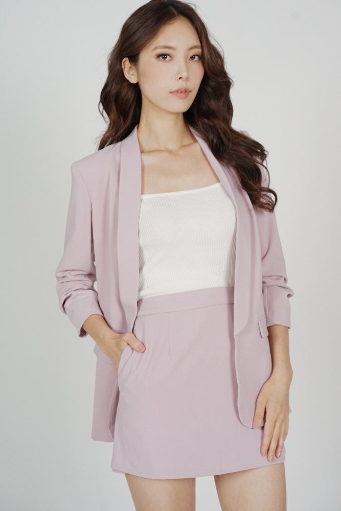 Maizel Gathered Sleeve Blazer in Pink - Arriving Soon