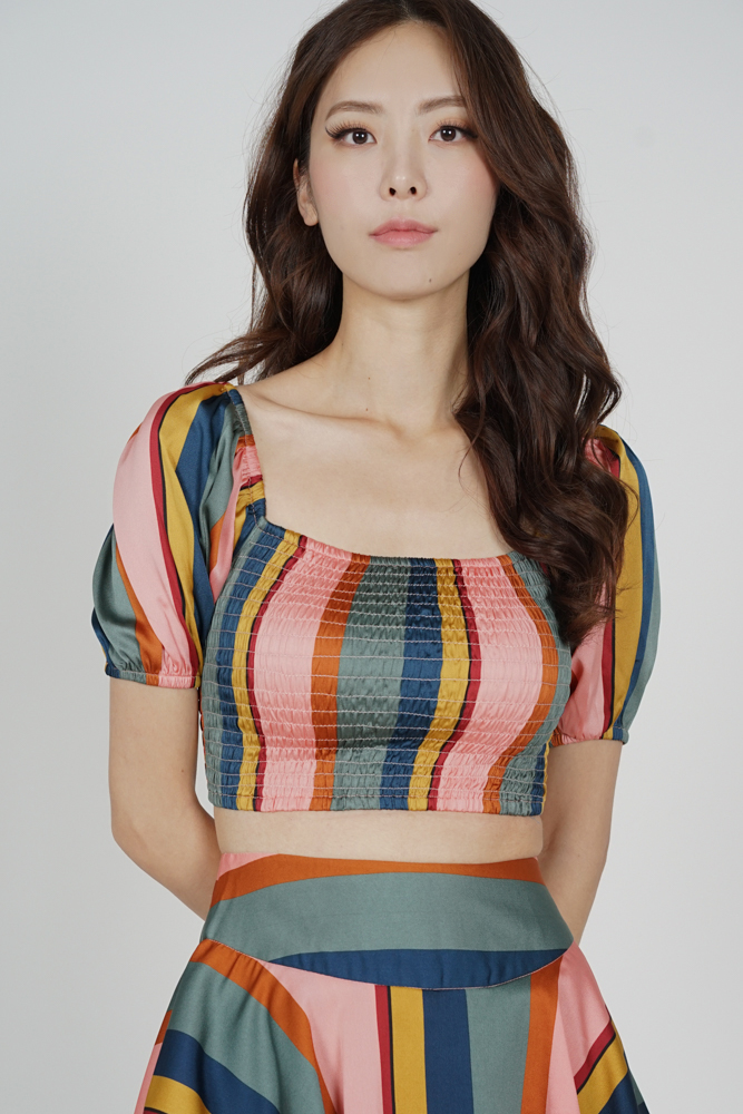 Yulra Smock Top in Rainbow - Arriving Soon