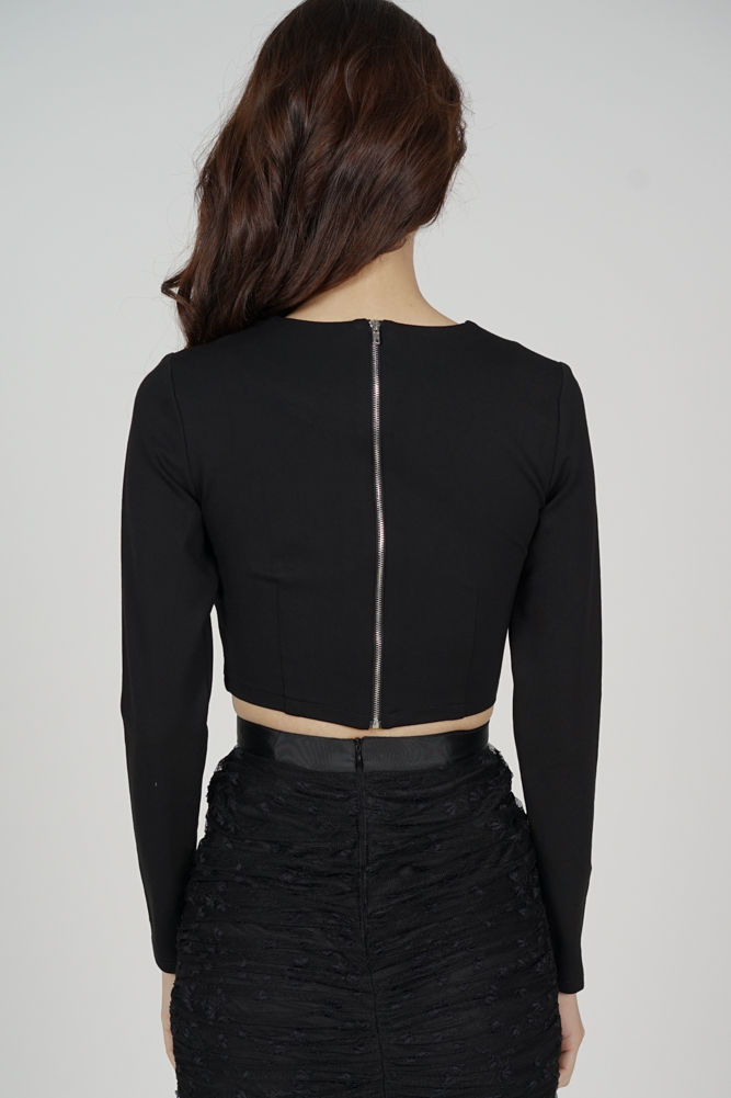 Elex Buckle Front Top in Black - Arriving Soon