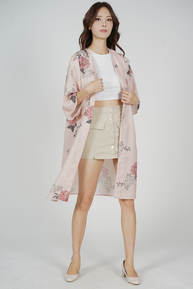 Michel Duster Kimono in Blush Floral - Arriving Soon