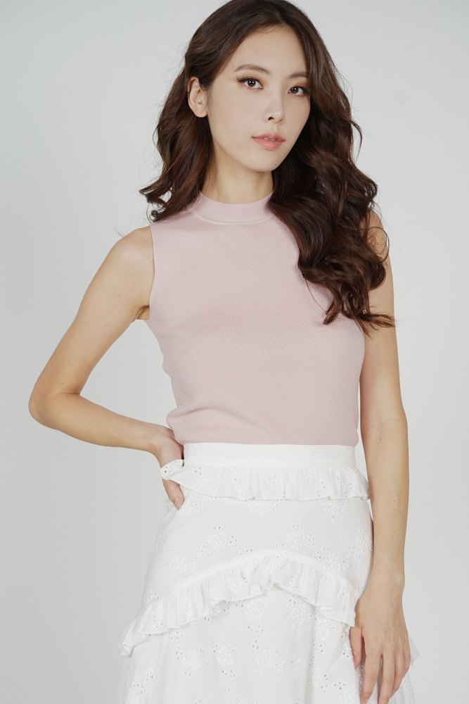 Maby Knit Top in Pink