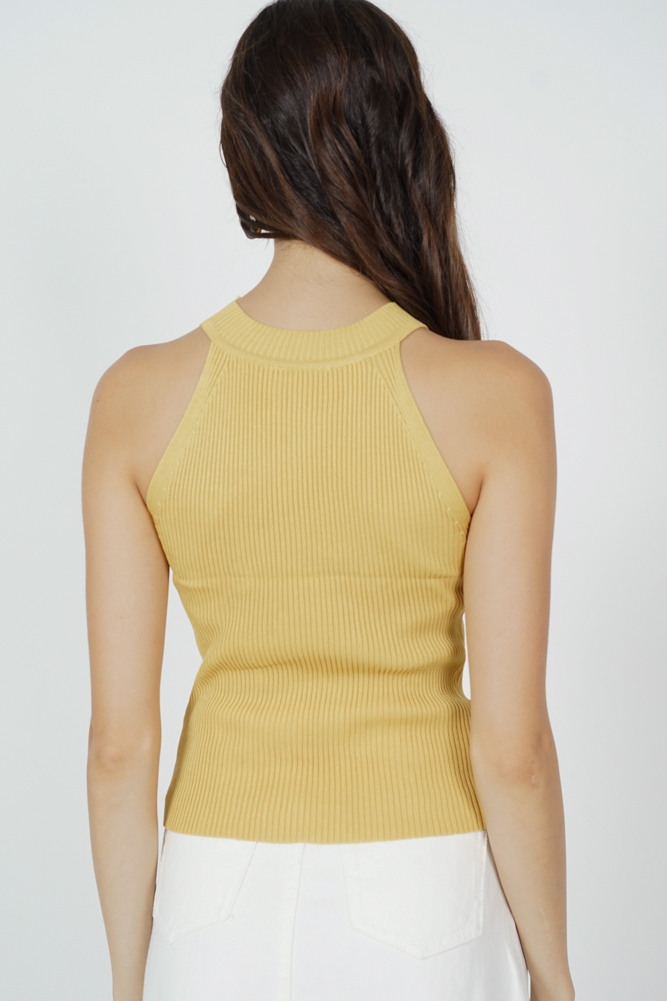 William Halter Top in Mustard