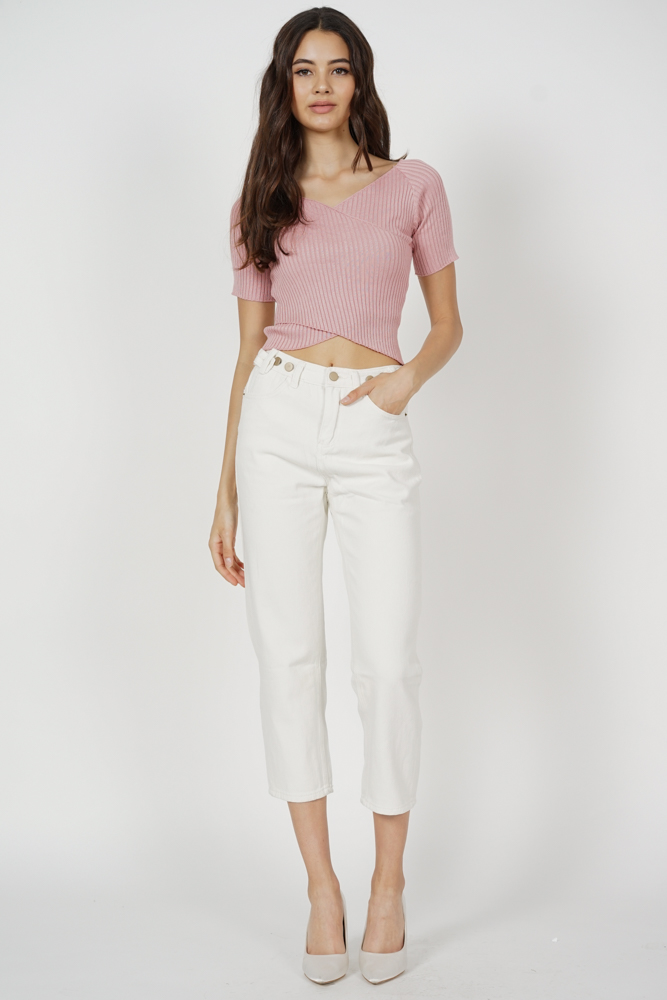 Regine Sleeved Top in Pink