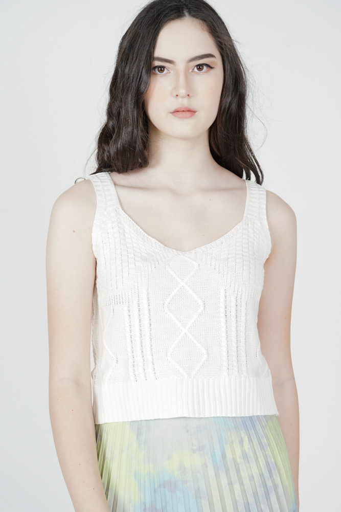 Sheini Knit Top in White - Arriving Soon