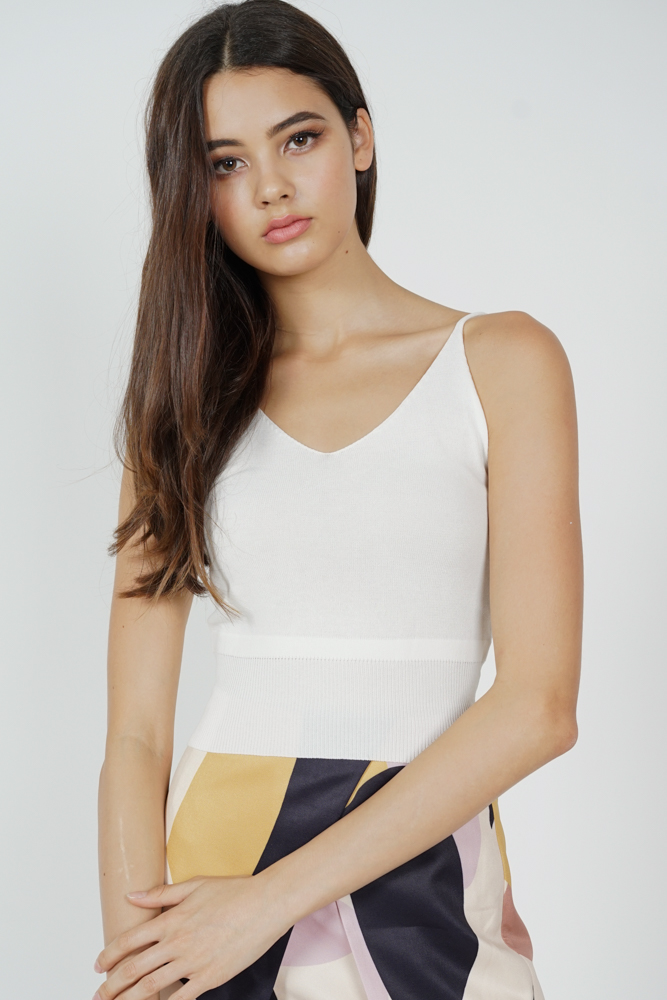 Ziane Cami Top in White - Online Exclusive