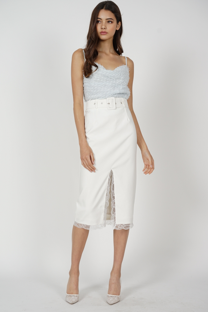 Teru Fringe Top in Ash  Blue - Arriving Soon