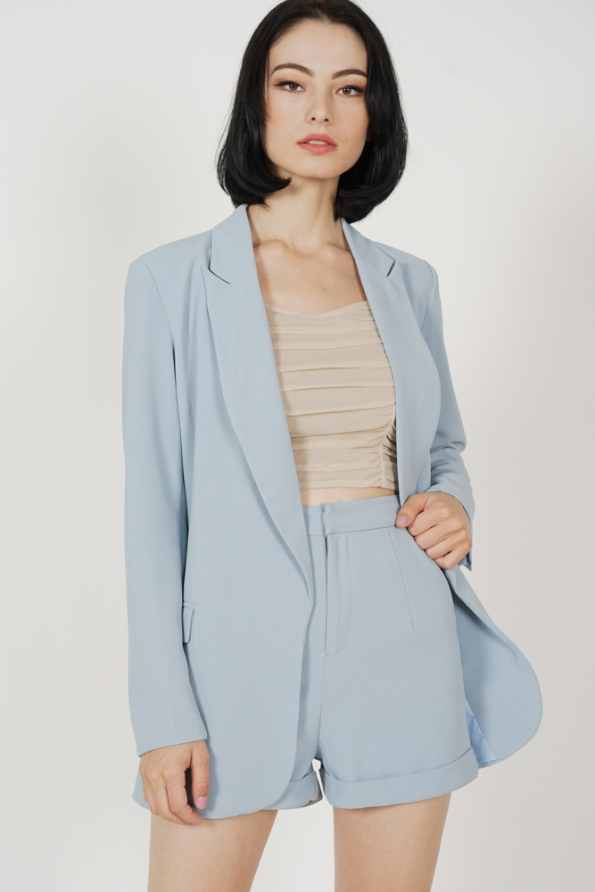Aden Blazer in Ash Blue