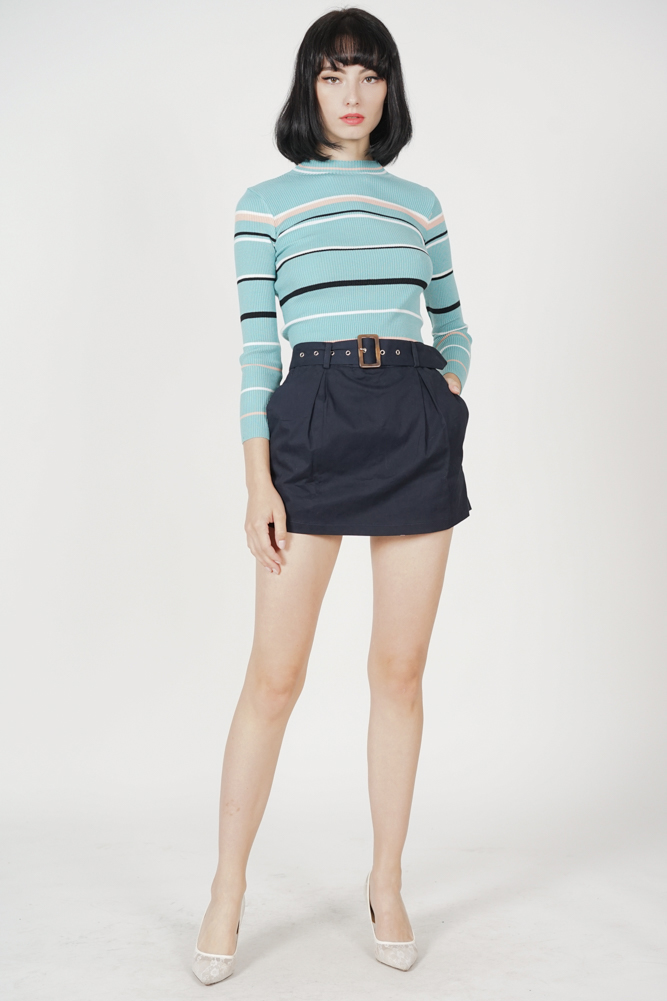 Sonria Striped Top in Blue - Online Exclusive