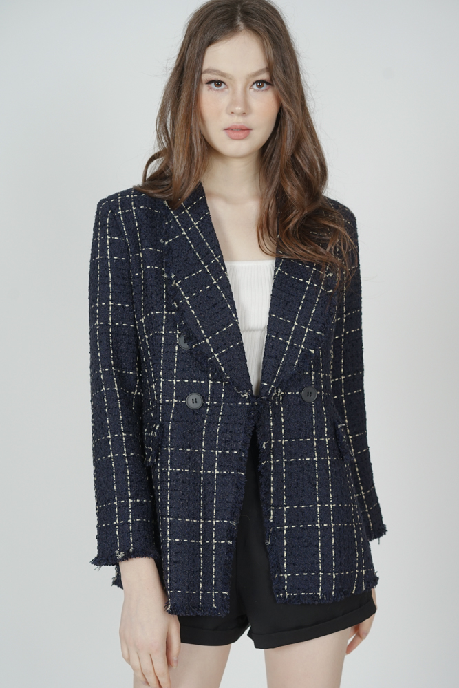 Caitlin Tweed Blazer in Midnight - Arriving Soon