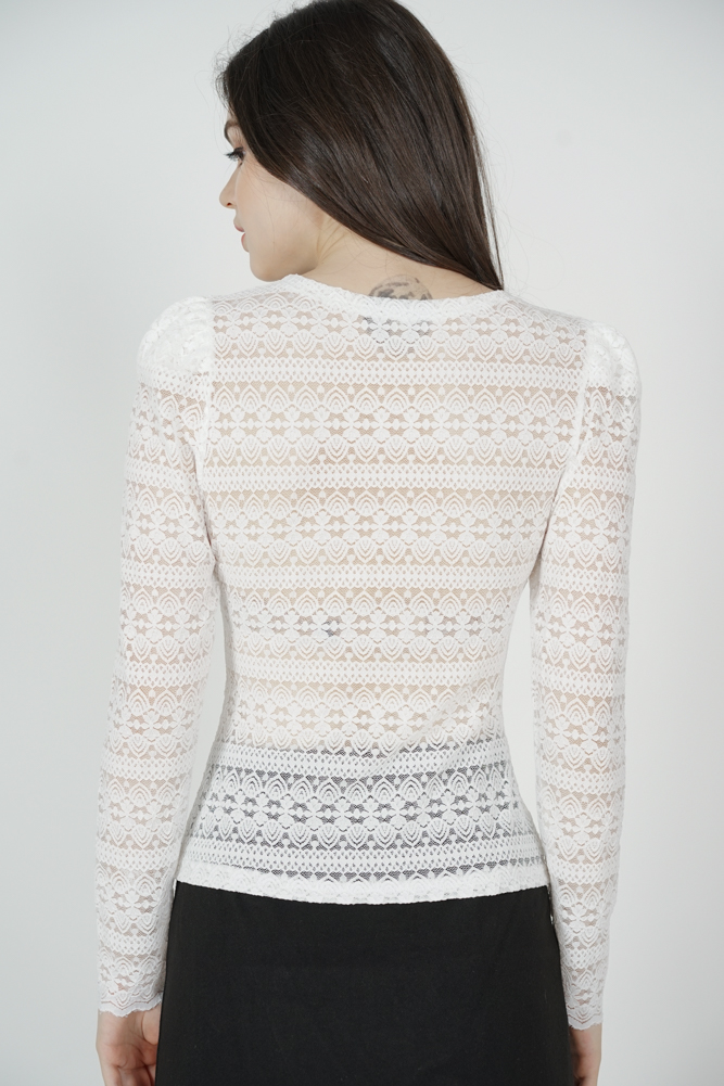 Cordelia Lace Top in White - Online Exclusive