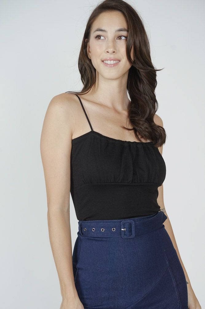 Saem Cami Top in Black - Online Exclusive