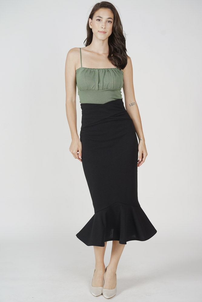 Saem Cami Top in Dark Green - Online Exclusive