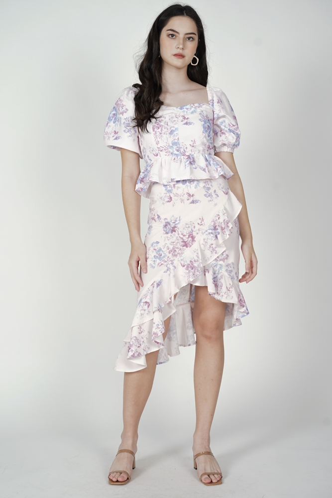 Blona Gathered Top in Lavender Floral - Arriving Soon