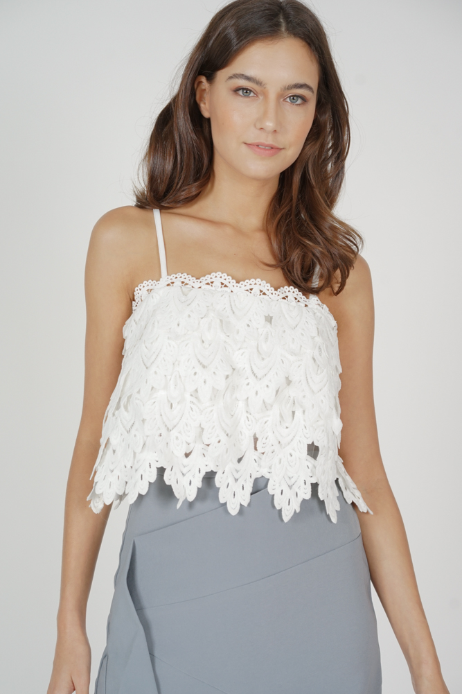 Tessi Crochet Top in White - Arriving Soon