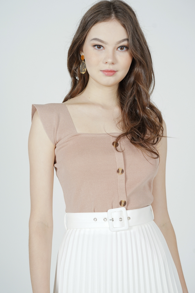 Kitria Knit Top in Beige