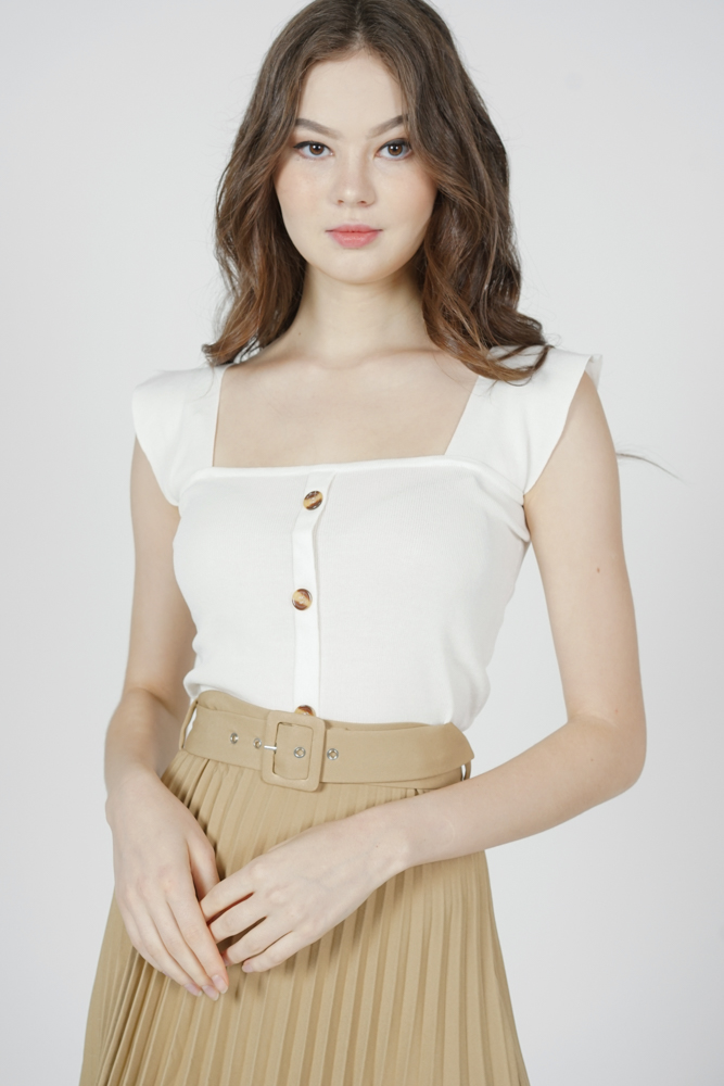 Kitria Knit Top in White