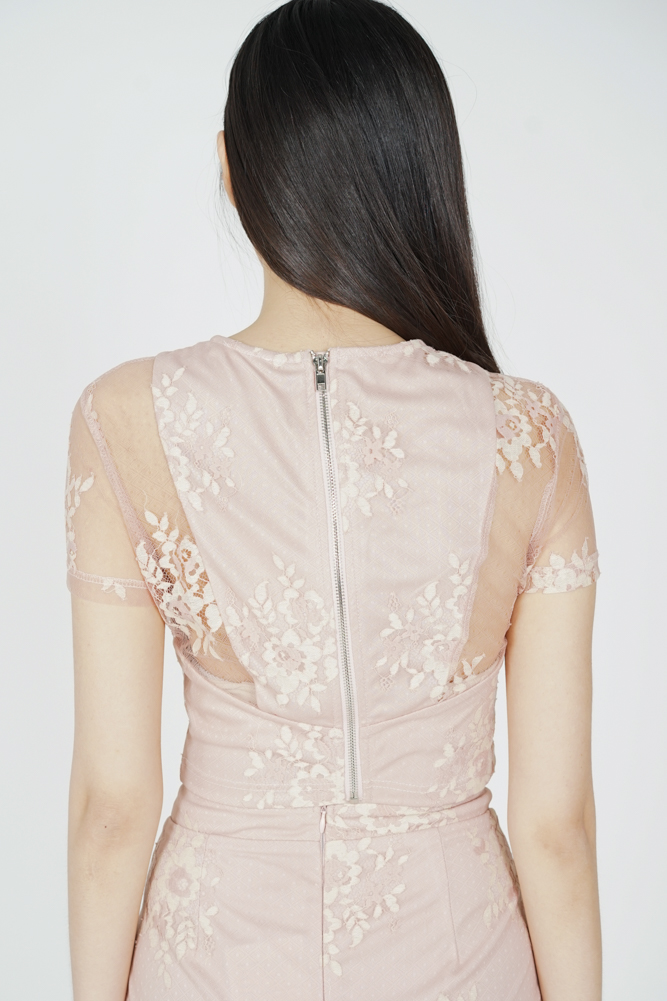 Britney Lace Top in Pink - Arriving Soon