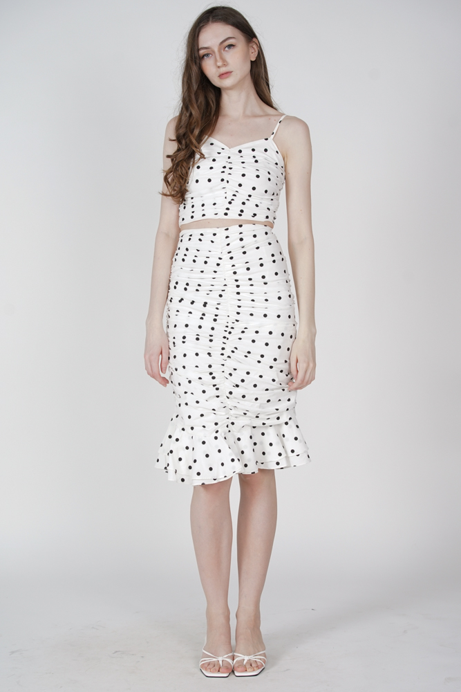 Lilah Cami Top in White Polka Dots - Arriving Soon