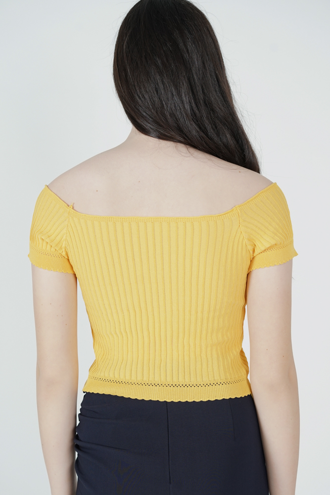 Kenny Buttoned Top in Mustard - Online Exclusive