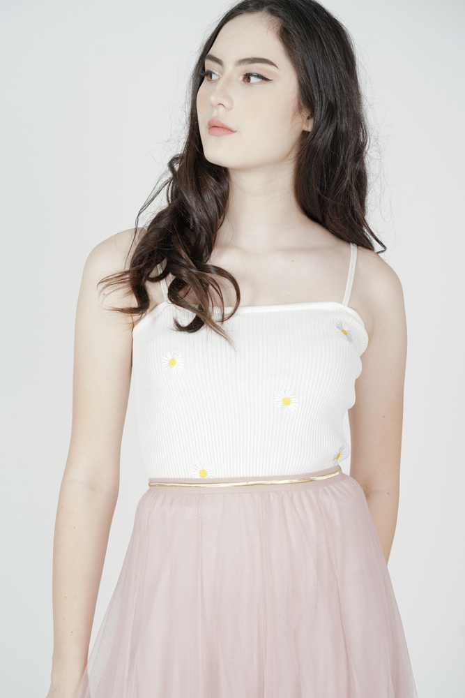 Jillian Cami Top in White - Online Exclusive