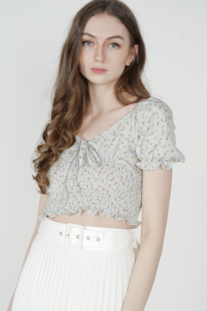 Nichole Puffy Top in Light Blue - Online Exclusive