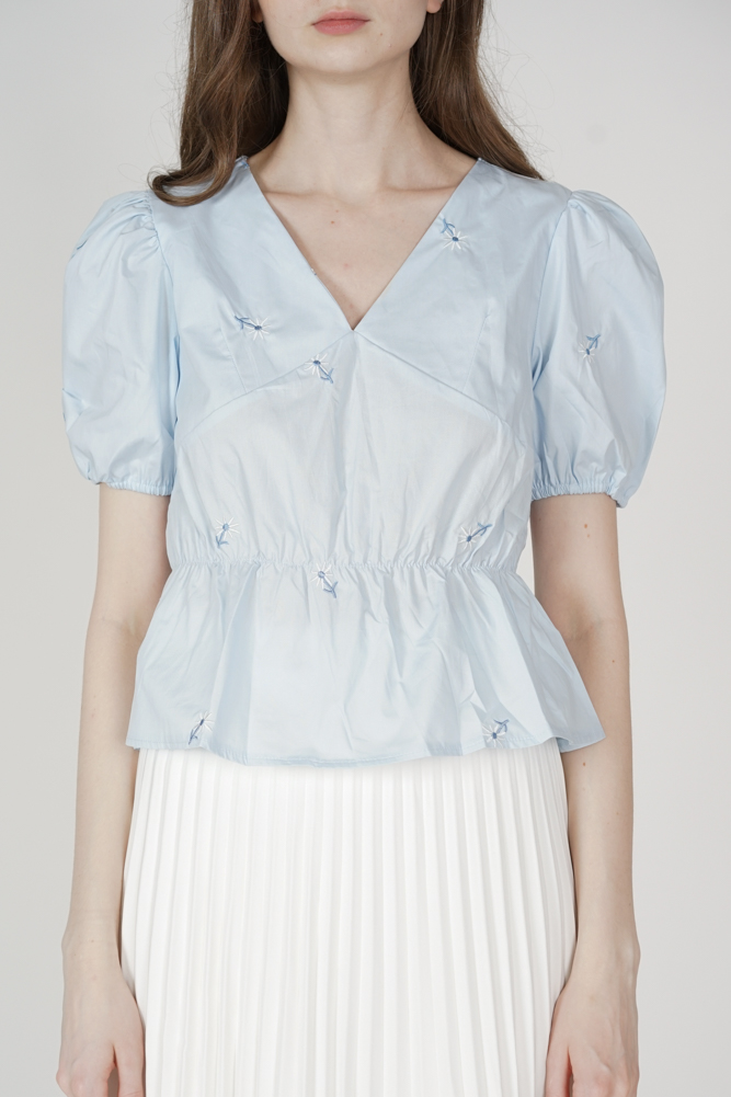 Putria Top in Light Blue - Online Exclusive