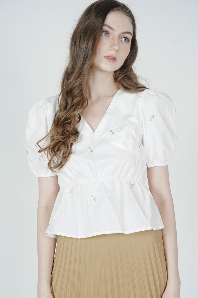 Putria Top in White - Online Exclusive