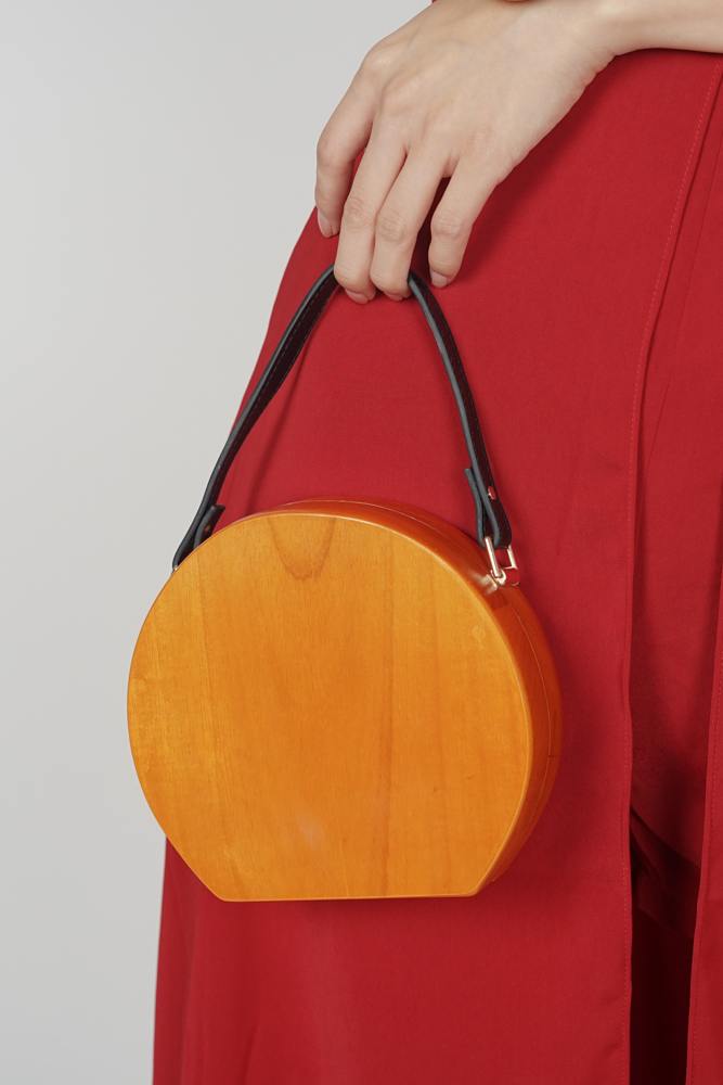 Wood Medallion Bag - Arriving Soon